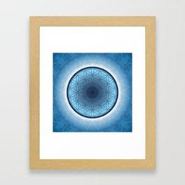 Flower of Life blue 2 Framed Art Print