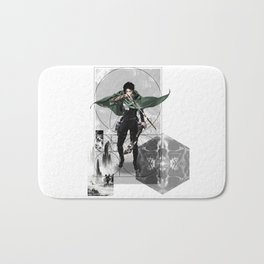 Captain Levi Attack on Titan Shingeki no kyojin Bath Mat