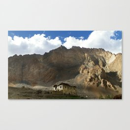 Under the shadows of the moutains Canvas Print