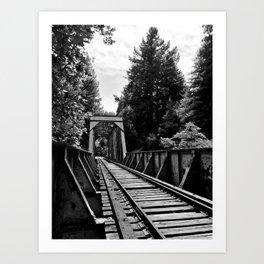 Bridge Crossing Art Print