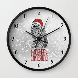Merry Christmas II Wall Clock