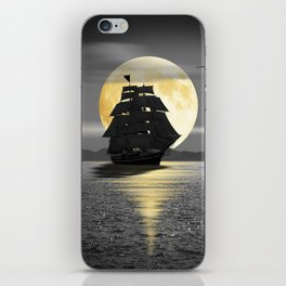 A ship with black sails iPhone Skin