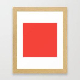 Red Orange Solid Color Framed Art Print