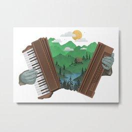 Accordionscape Metal Print