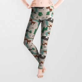 Moose in the Wildnerness Leggings