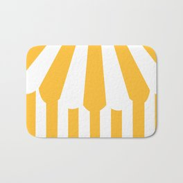 yellow tent Bath Mat