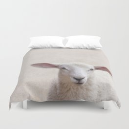 Lamb Portrait Duvet Cover