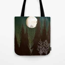 Into The Cold Winter Woods Tote Bag