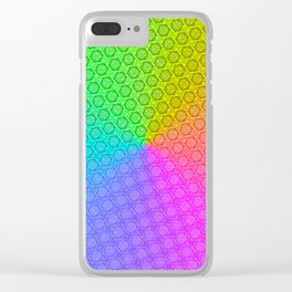 d20 Prismatic Spray Critical Hit Pattern Clear iPhone Case