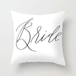 Lettered Bride Throw Pillow