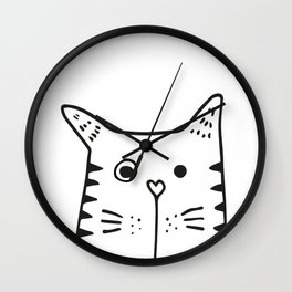 Big Cat, kids room and nursery deco Wall Clock