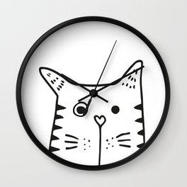 Big Cat, kids room and nursery deco Wall Clock