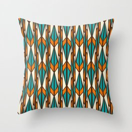 Twilight forest pattern in retro style Throw Pillow