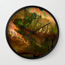 06-04-18 (Mountain Glitch) Wall Clock