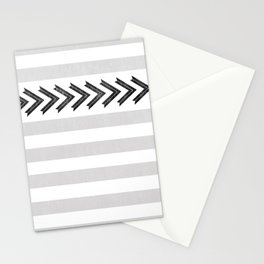 ARROW STRIPE {GRAY} Stationery Cards