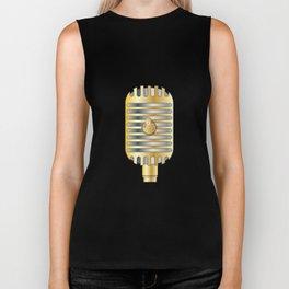 Golden Microphone Biker Tank