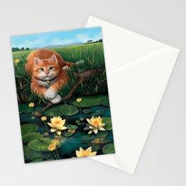 "Mosky Cat ""Waterlily"" Stationery Cards"