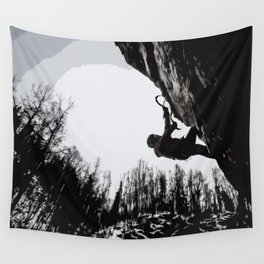 Climbers Silhouette #2 Wall Tapestry