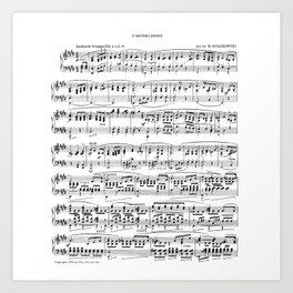 Mendelssohn Classical Sheet Music Art Print