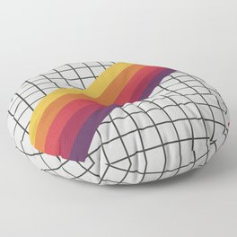 Old Video Cassette Palette III Floor Pillow