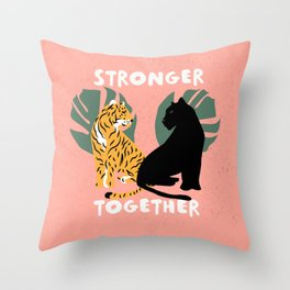 Stronger Together (Pink) Throw Pillow