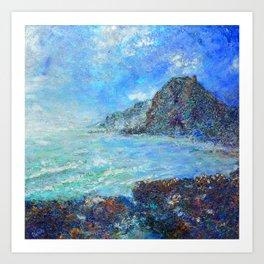 wild west Piha beach Art Print