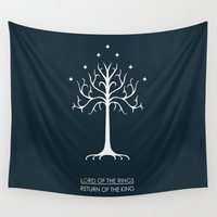 lord of the rings Wall Tapestries featuring Lord Of The Rings ROTK by Jamesy