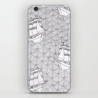 ships iPhone & iPod Skins featuring Ships by hellotomato