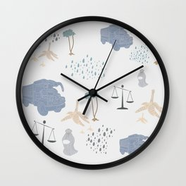 Light Blue - YangTia's Life Wall Clock