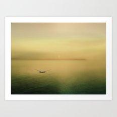 Serene buoyancy Art Print