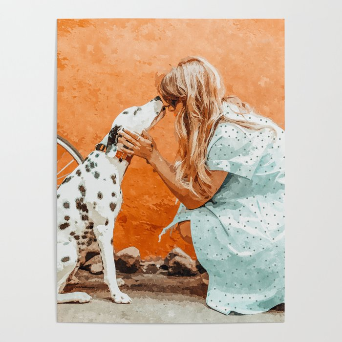 Pet Bound #pets #animals #animalslover #painting Poster