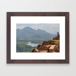 View from the Top of Sigiriya Rock Fortress Framed Art Print