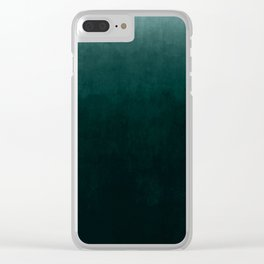 Ombre Emerald Clear iPhone Case