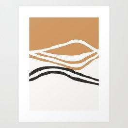 Rhode - ocean art, wall art, minimal art, earth tone, earth palette, minimalist, olivia st james art Art Print