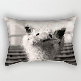 Baseball Ostrich Rectangular Pillow