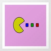 pacman Art Prints featuring Pacman by ArtSchool