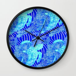 blue sea turtles Wall Clock