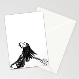 drunk girls Stationery Cards