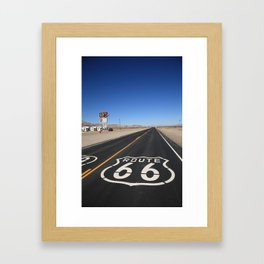 Route 66 Shield Framed Art Print