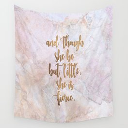 She is Fierce - Marble Wall Tapestry