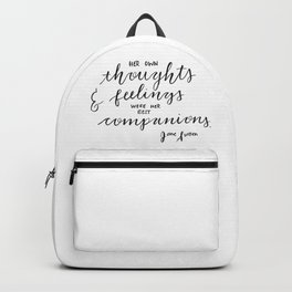 Jane Austen Quote Backpack