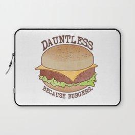 Dauntless - Because Burgers Laptop Sleeve