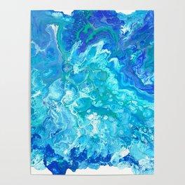 Aqua Ocean Blue Poster