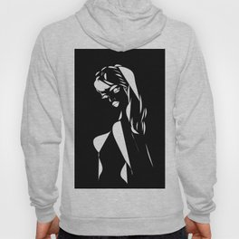 Woman 70s abstract black & white  Hoody