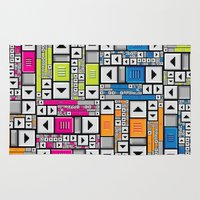 popart Area & Throw Rugs featuring ScrollBar PopArt by Roberlan Borges