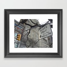 Lights and Signs Framed Art Print