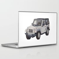 jeep Laptop & iPad Skins featuring Jeep Wrangler 2012 by Megan Yiu