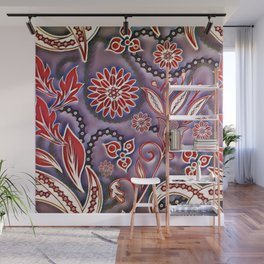 Funky Flowers Wall Mural