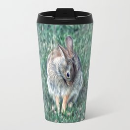 COTTONTAIL IN THE CLOVER Travel Mug