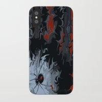 black widow iPhone & iPod Cases featuring widow by Shea33